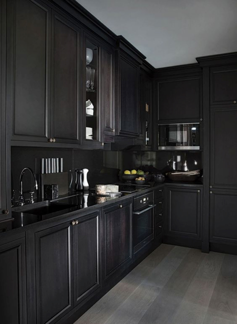 If Thereu0027s A Dramatic Kitchen Style We Canu0027t Get Enough Of, It Has To Be  Bold Black Kitchens. We Love The Depth And Wow Factor That An All Black (or  Almost ...