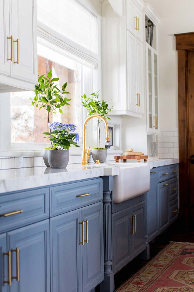 Colorful Kitchens Beautiful Blues Gem Cabinets