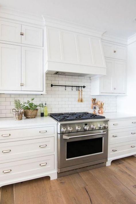 Subway Tile Backsplash Gem Cabinets
